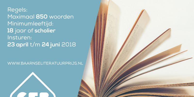 Poster Baarnse Literatuurprijs 2018